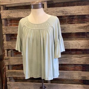 Umgee Seafoam Green Top. Medium.